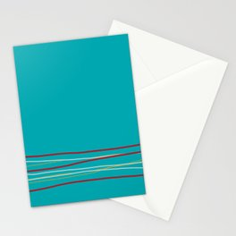 Multi Colored Scribble Line Design Bottom V5 Rustoleum 2021 Color of the Year Satin Paprika & Accent Stationery Cards