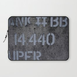 Industrial Tank Sign Laptop Sleeve