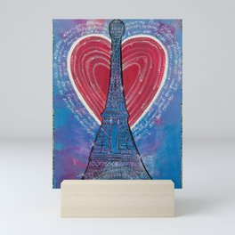 In Love, In Paris Mini Art Print