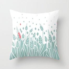 pink corn Throw Pillow