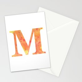 Letter M Art/ Initial M/ Monogram Stationery Cards