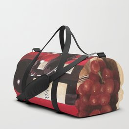 Red Wine, Still Life Duffle Bag