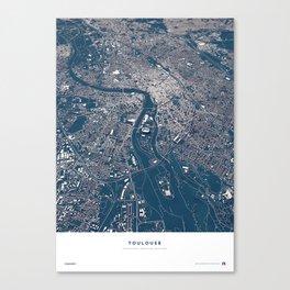 Toulouse - City Map Canvas Print