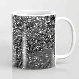 Gray Black Night Glitter #1 #shiny #decor #art #society6 Coffee Mug