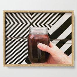 Artistic Cold Brew Shot 3 // Mason Jar Caffeine & Street Art Barista Coffee Shop Wall Hanging Photo Serving Tray