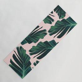 Tropical Blush Banana Leaves Dream #1 #decor #art #society6 Yoga Mat