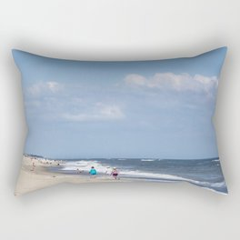 Fire Island Beach Rectangular Pillow