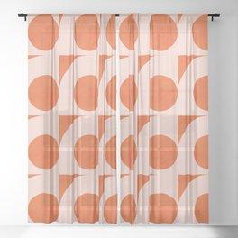 Abstraction_Circles_Pattern_Minimalism_001 Sheer Curtain