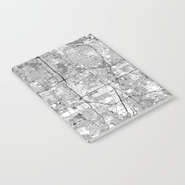 Los Angeles White Map Notebook