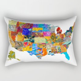 USA Map Rectangular Pillow