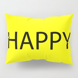 Happy Yellow Black Pillow Sham