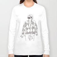 eddie vedder Long Sleeve T-shirts featuring eddie by Panic Junkie