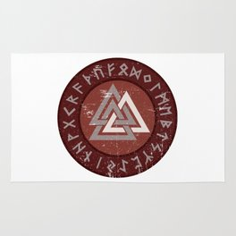 Valknut | Viking Warrior Symbol Triangle Rug
