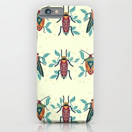Playful Bug Garden iPhone Case