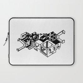Cube monsters geometric doodle art Laptop Sleeve