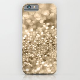Champagne Gold Lady Glitter #2 #shiny #decor #art #society6 iPhone Case