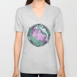 Pisces Dragon    Dragon Zodiac Series Unisex V-Neck