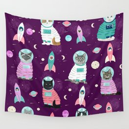 Space Cats pet portraits cute cat gifts cat lady outer space cadet rockets Wall Tapestry