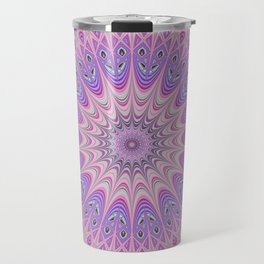 Beautiful detailed Mandala pink purple #mandala Travel Mug