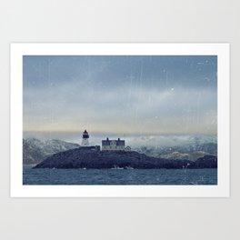 Northern lighthouse  Art Print
