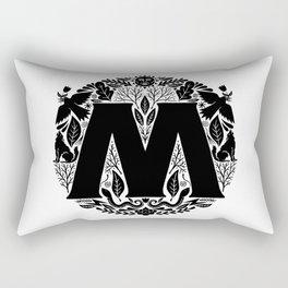 Letter M monogram wildwood Rectangular Pillow