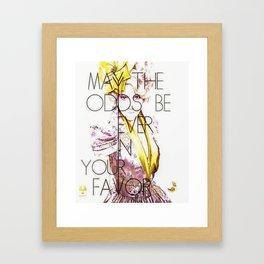 May the Odds Framed Art Print