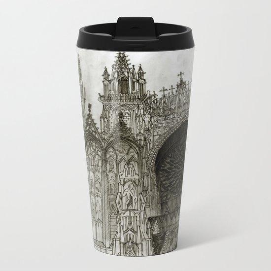 Rouen facade Metal Travel Mug