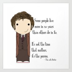 Doctor Who: It's Not the Time That Matters Art Print