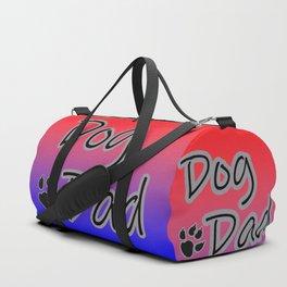 Dog Dad - Red Blue Duffle Bag