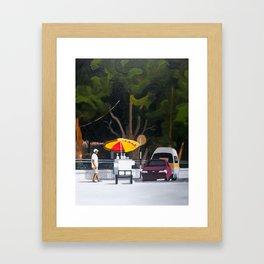 Sno-cone cart Framed Art Print