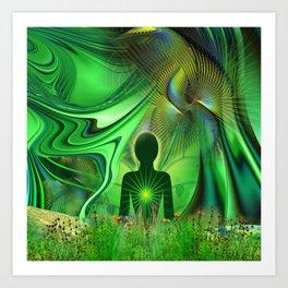 Heart Chakra Energy. Art Print