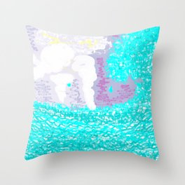 King Aegeas and the Aegean sea Throw Pillow