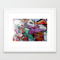 grafitti Framed Art Prints featuring Grafitti by Anna Mundy
