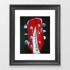Rickenbacker Headstock Guitar Art Acrylic Painting Framed Art Print