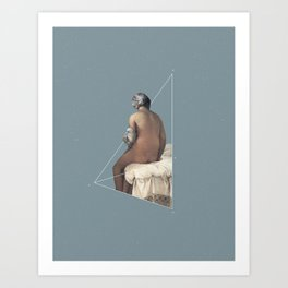 NOT The Valpinçon Bather Art Print