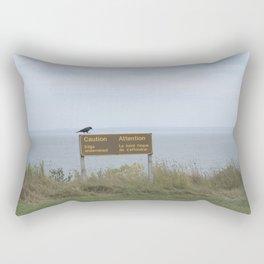 Caution (American black crow on caution sign) Rectangular Pillow
