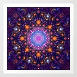 """""""Guardian"""" Mandala painting Art Print"""