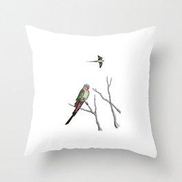 Princess Parrot Throw Pillow