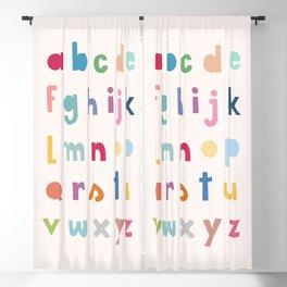 ABC alphabet art Blackout Curtain