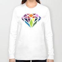 diamond Long Sleeve T-shirts featuring Diamond by Bridget Davidson
