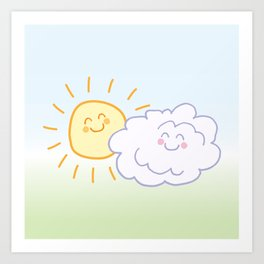 Floof Cloud and Sunny Art Print
