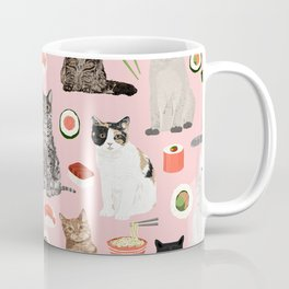 Cat breeds pure bred cats sushi kawaii pet gifts cat person must haves Coffee Mug
