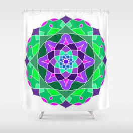 Mandala in nostalgic colors Shower Curtain
