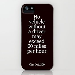 City Ord.  200 iPhone Case