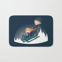 A Snowy Ride Bath Mat
