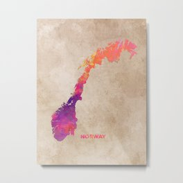Norway #map #norway #norwaymap Metal Print