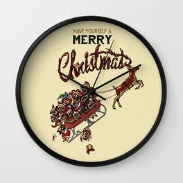 Pugs Christmas Wall Clock
