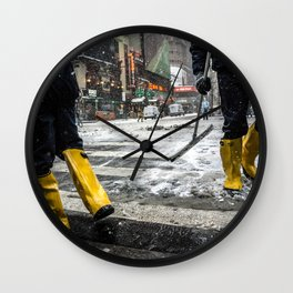 NYC Blizzard of 2015 Wall Clock