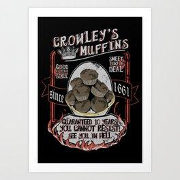Crowley 's Muffins  - Supernatural Art Print