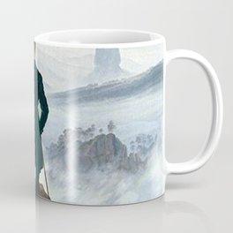 Wanderer above the Sea of Fog Painting by Caspar David Friedrich Coffee Mug